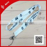 lanyard for key silk screen printing shining polyester lanyard with phone string for gifts MOQ=100pcs