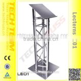 LE01 Popular Metal Modern Lectern Podium , Aluminum Truss Stand and Plate .
