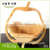 Factory direct Wholesale empty bamboo basket eco-friendly