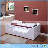 Chinese sexy tempered glass side acrylic massage bathtubs