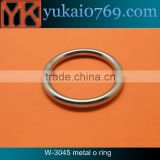 Yukai welded round metal o ring for outdoors/metal hardware o ring for bags