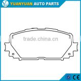 accessories toyota vios 04465-0D150 front brake pad for toyota yaris toyota vios 2013 - 2016