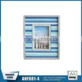 Colorful Wooden Frame Pastel Strips Beach Theme Antique Picture Photo Frame