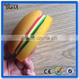 Funny shaped hamburger sponge sticky notepad, Colorful self adhesive removable sticky memo pad