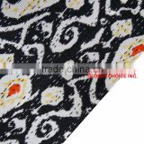 Indian Handmade Quilt Twin Kantha Bedspread Cotton Black Patch Blanket Jaipur