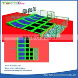 Trampoline park indoor trampoline with large size4 foam pit and basketball hoop
