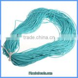 Wholesale 2mm Light Blue Jewelry Imitated Leather Cords 100 Metres/ Bundle PULC-C202