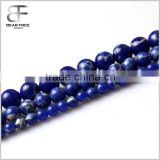 Natural Genuine Blue Lapis Lazuli Real Gemstone Round Loose Beads Strand for Necklace Jewelry Making