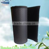 Pleated activated carbon filter roll media