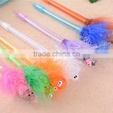 Creative Promotional Stationery Gifts Feather Plastic Ballpoint Pen