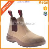 Suede leather upper, anti-static, anti-puncture slip on safety boots                                                                         Quality Choice