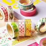 Wholesale lovely patterns Japanese washy paper tape for decoration and gift box on festival