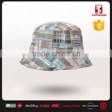 Wholesale promotional 100% cotton yarn dyed bucket kids sun hat