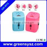 GR-W13 corporate gift multi plugs world usb universal charger dual usb ports                                                                         Quality Choice