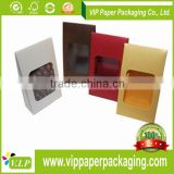 CHINA MAKER CUSTOM LOGO PRINT PAPER CHOCOLATE WINDOW CANDY BOXES