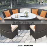 Sandra Rattan Lounge Furniture China Anti-skidding Outdoor Hotel Dining Table and Chair Set                                                                         Quality Choice