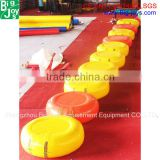 Inflatable water toys floating bridge pontoon saw for sale