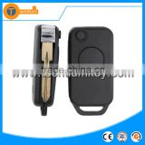 4 track blade flip remote key blank shell with 1 button for Mercedes Benz vito e class w124 w202 w220