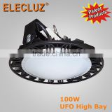 Casting aluminum body 200W UFO LED HIGH BAY FIXTURES with MW driver factory price