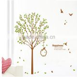 Free shipping 2015 new design 2pcs/set vinyl wall stickers Tree and bird giant home decor wall decals JM7206