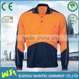 long sleeve sport polo shirt wholesale safety workwear shirt cheap sport wear print shirt