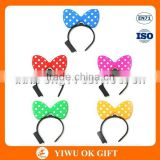 Wholesale Classic Cartoon Mickey Mouse Bow Tie LED Plastic Party Headband