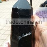 Wholesale price natural black obsidian crystal point wand