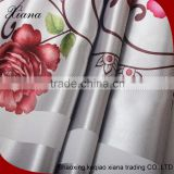 2016 Floral Printed polyester Blackout fabric, Curtain fabric blackout india