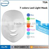 Top Sale 7 Colors Light Skin Care Pdt Led Facial Red Light Therapy Devices Mask/pdt Led Collagen Light Therapy Photon Led Light Skin Rejuvenation Anti-aging