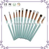 12pcs wood handle eye use cosmetic makeup brushes for make up