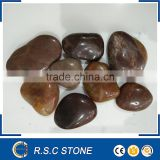 Natural polished red pebble,decorated pebble