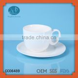 coffee cups and saucers,ceramic type white teacup Eco-Friendly Feature and ceramic,Ceramic Material cup with cookie holder
