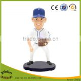 customize 3d plastic baseball bobble heads, personalized baseball players bobble heads
