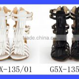 2017 Summer Shoes Leather Kids Girl Baby Gladiator Sandals Little Girls High Tassels Sandal With Zippers