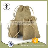 Custom gorgeous cheap burlap wine bags with handles