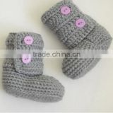 Autumn Winter Warm Crochet Wool Shoes Baby Newborn Knitted Booties
