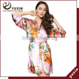 Kimono silk satin bridesmaid robe sleepwear for women robe LF0011