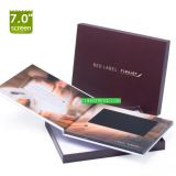 video player greeting card 7 inch big lcd size video brochure
