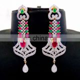2016 Bollywood fashion wear gold plated CZ Earring - Wholesale American Diamond Dangle Earring -gift For Her