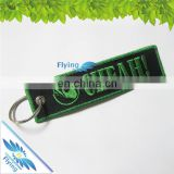 Newest wholesale cloth embroideried key tag, Customized branded logo embroidery keychains for promotion