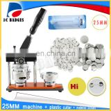 New 25 mm rotating button badge machine combination + 500 sets of badge material + Adjust Circle Cutter
