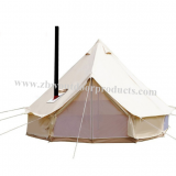High Quality Camping Herringbone Tents with Chimney Hole