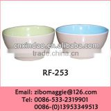 Round Shape Perosnalized Promotion Hot Sale Ceramic Assorted Color Soup Bowl for Children