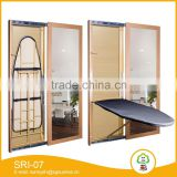 Hotel industrial commercial foldable wall hanging ironing board with mirror