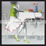 eating watermelon women Oil painting For hotel,club and bar Decoration YB-61