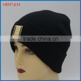 100% acrylic black cheap best designer beanie hats for man