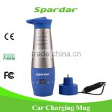 INQUIRY ABOUT Non -spill stainless steel Smart 12V heated auto mug with Customized LOGO