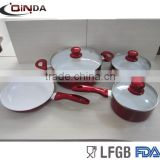 Popular pan cookware set with metallic painting
