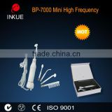 BP-7000 Inkue portable violet ray high frequency machine for black head remover and ozone hair growth acupuncture comb