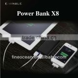 Portable Mobile Phone Chargers Power Bank 6000mah Brand e-whale For iPad iPhone Mobile Phone